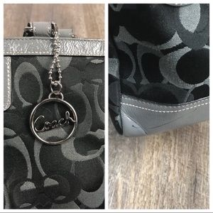Coach Bags - Coach Optic grey monogram gallery canvas tote bag